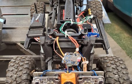 Custom RC Car For Crawl Space Inspection